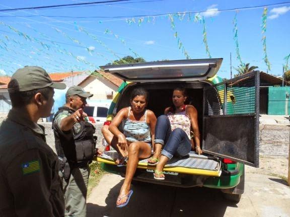 Mulheres são presas acusadas de uma série de furtos em Buriti dos Lopes