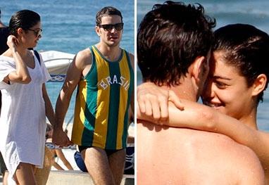 Sophie Charlotte e Daniel de Oliveira curtem praia em clima de paixão