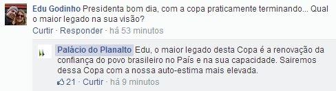 Em bate-papo com internautas, Dilma garante: