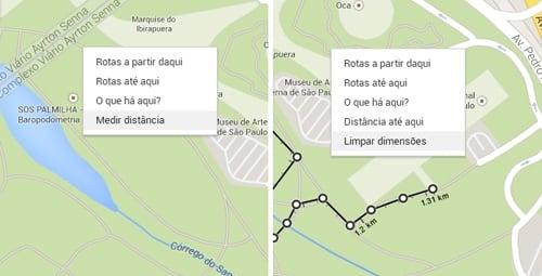 Google Maps agora mostra qual é a distância entre mais de dois pontos