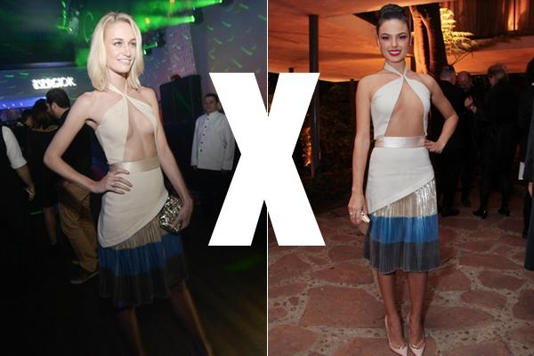 Isis Valverde e modelo Vivi Orth usam mesmo vestido; quem  se deu melhor?