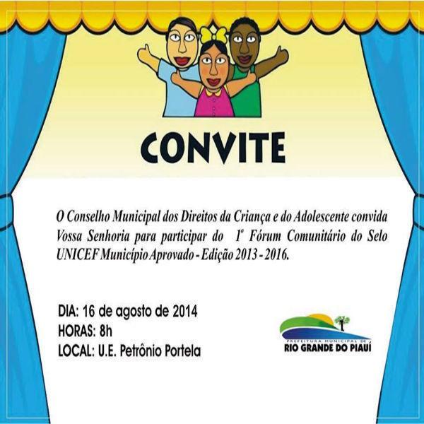 Rio Grande do Piauí realiza I Fórum Comunitário da Criança e Adolescente