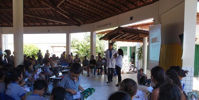Secretaria de saúde prove campanha do Governo Federal nas escolas de Monte Alegre.