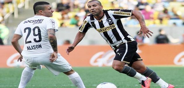 Botafogo bate Santos com golaço e se afasta da degola no Campeonato Brasileiro