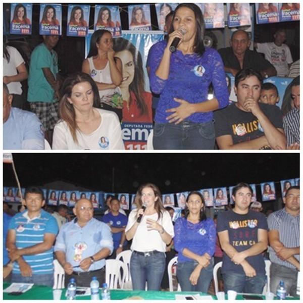 Multidão lota reunião de Ana Célia e da Deputada Iracema Portella