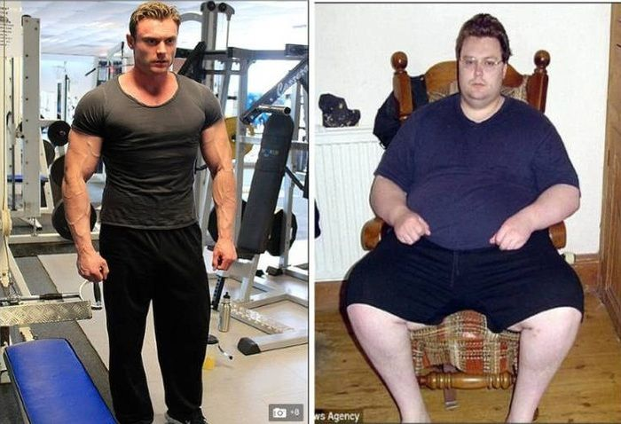 Obeso mórbido perde 114 kg após tentar suicídio e vira gato musculoso  - Imagem 1