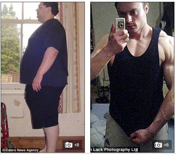 Obeso mórbido perde 114 kg após tentar suicídio e vira gato musculoso  - Imagem 3