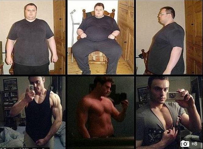 Obeso mórbido perde 114 kg após tentar suicídio e vira gato musculoso  - Imagem 4