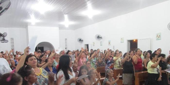 Noite de abertura dos festejos de Nossa Senhora de Fátima no Buriti do Castelo