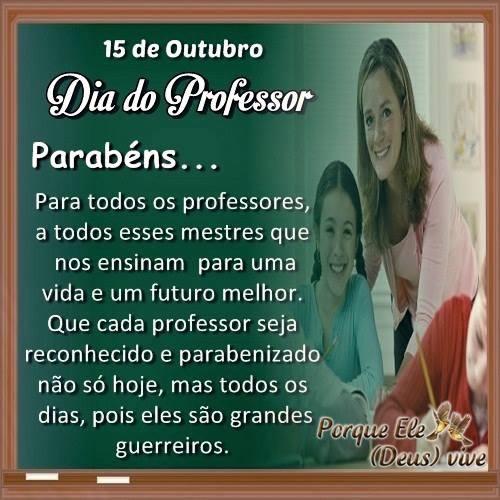 Feliz Dia Do Professor 15 De Outubro
