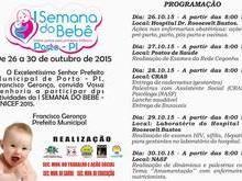 Prefeitura promove Semana Municipal do Bebê a partir de segunda-feira (26)