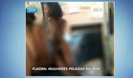 Mulheres são flagradas andando peladas em ônibus de Goiás