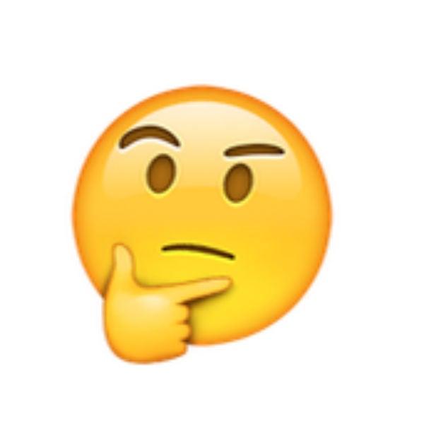 Resultado de imagem para emoji pensativo