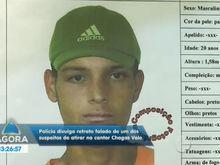 Polícia divulga retrato falado de um dos suspeitos de atirar contra o músico Chagas Vale