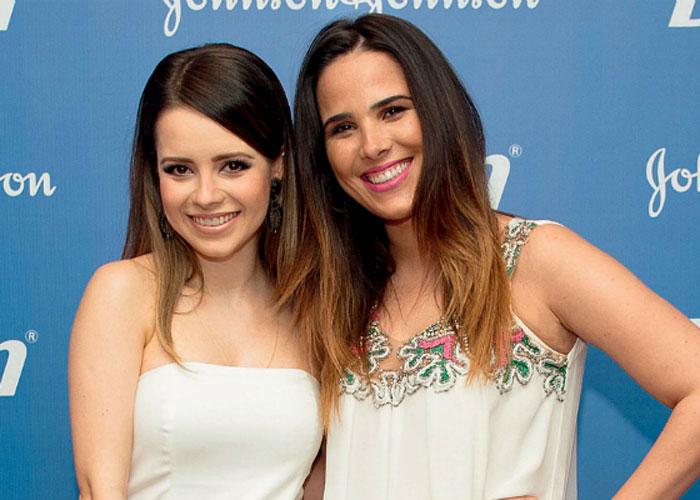 Sandy e Wanessa se encontraram  (Crédito: Divulgação )