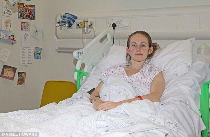 Victoria Lebrec se recuperando do acidente  (Crédito: Reprodução R7)
