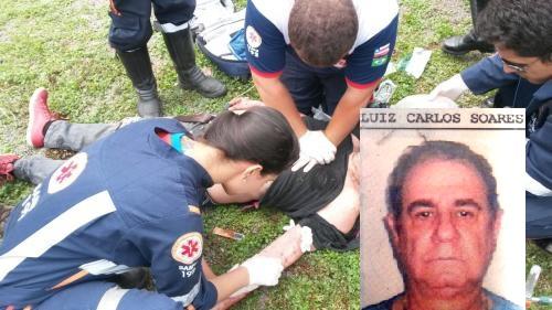 Luis Carlos Soares da Silva foi osocorrido, mas não resistiu e morreu