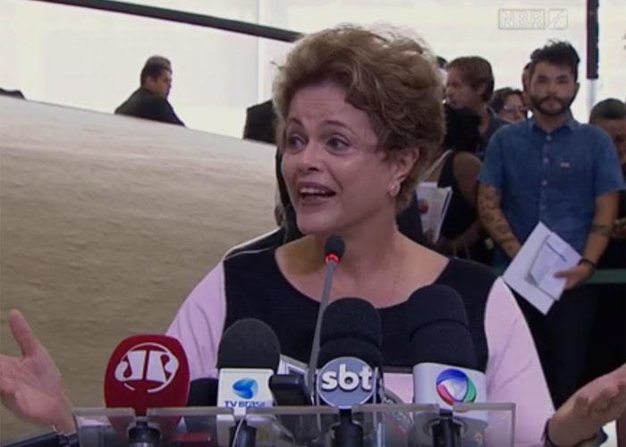 Dilma falou na 21ª edição do Prêmio Direitos Humanos (Crédito: Reprodução/ g1 )