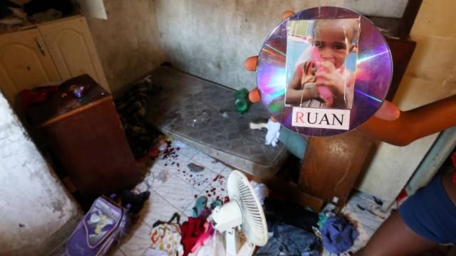 Local onde Ruan de apenas dois anos foi baleado (Crédito: Reprodução)