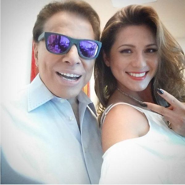 Silvio Santos e Livia Andrade (Crédito: Reprodução)