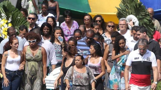 Enterro de Ruan no Rio de Janeiro (Crédito: Reprodução)