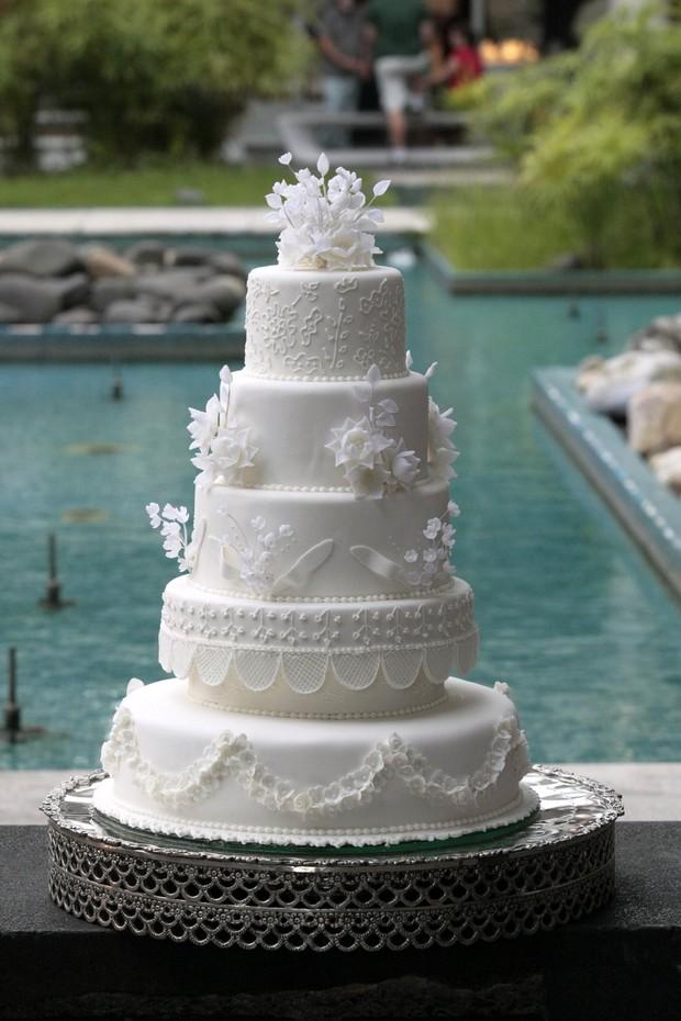 Bolo do casamento (Crédito: Rio News)
