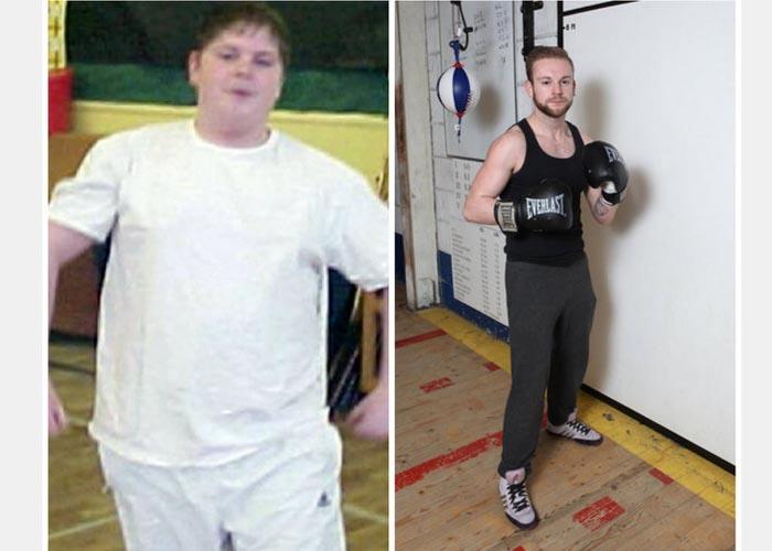 A diferença no corpo de Michael é impressionante