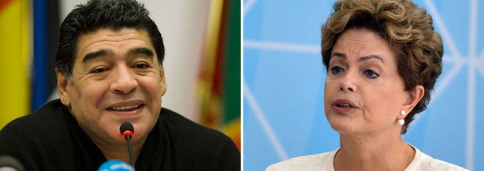 Diego Maradona declarou apoio à Dilma no Facebook