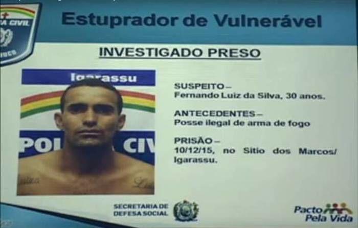 Fernando Luis da Silva, de 30 anos (Crédito: Reprodução/Polícia Civil)