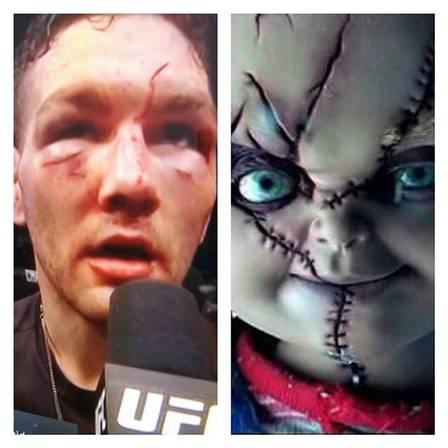 Rosto desfigurado de Chris comparado a personagens de filme de terror (Crédito: Reprodução)
