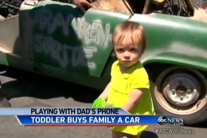 Garotinha comprou o carro 'sem querer' (Crédito: ABC News )
