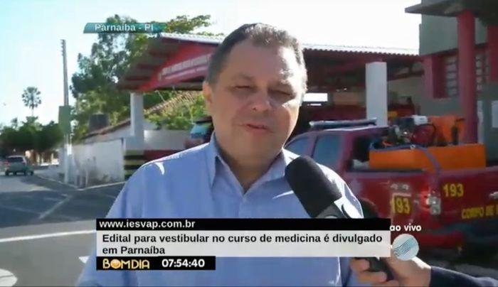 Prefeito Florentino Neto (Crédito: Reprodução/TV Meio Norte)