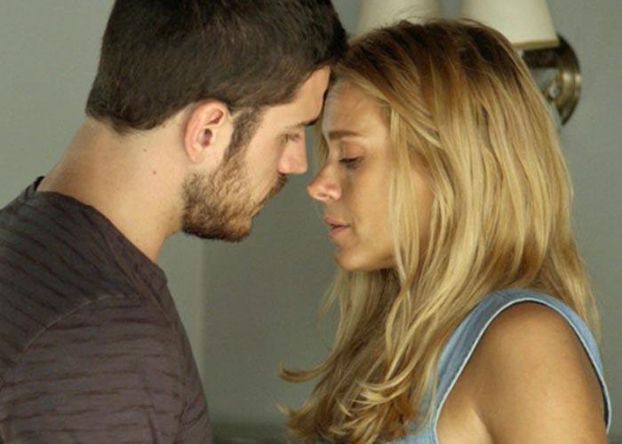 Dante (Marco Pigossi) e Lara (Carolina Dieckmann)