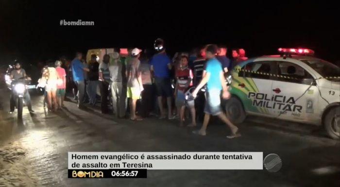 Homicídio na entrada do Monte Verde (Crédito: Reprodução/ TV Meio Norte)