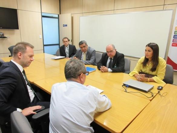 Reunião entre Margarete Coelho e representantes do Banco Mundial (Crédito: Reprodução)