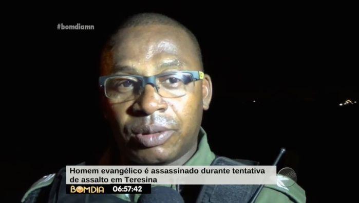 Policial que atendeu a ocorrência (Crédito: Reprodução/ TV Meio Norte)