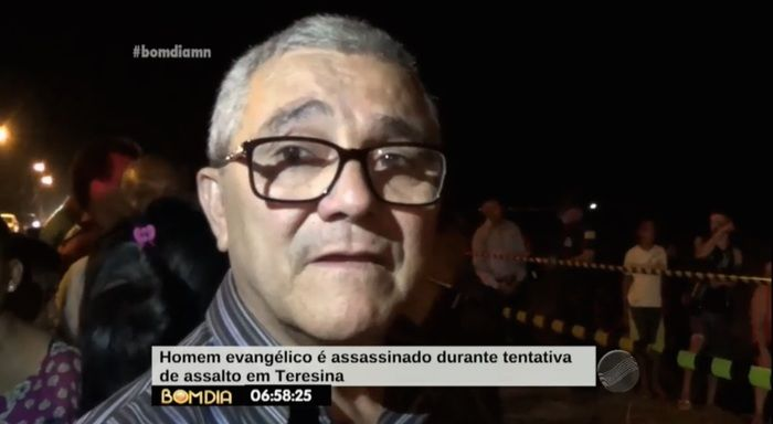 Pastor visivelmente emocionado (Crédito: Reprodução/ TV Meio Norte)