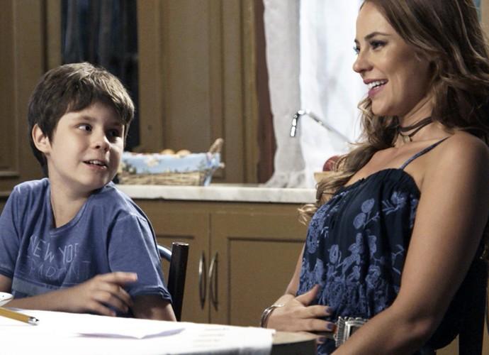 Melissa mente sobre o filho (Crédito: Reprodução)