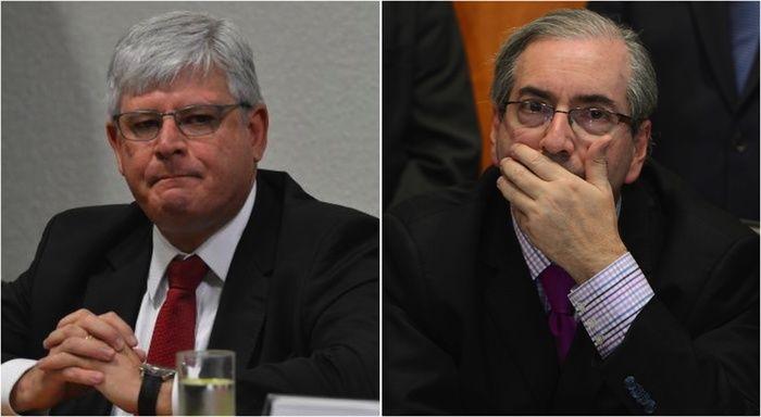 Rodrigo Janot e Eduardo Cunha (Crédito: Reprodução)