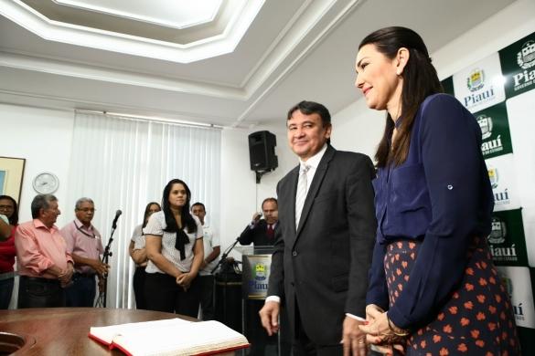 Wellington Dias e Margarete Coelho  (Crédito: Jorge Henrique Bastos)
