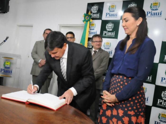 Wellington Dias e Margarete Coelho  (Crédito: Marcelo Cardoso)