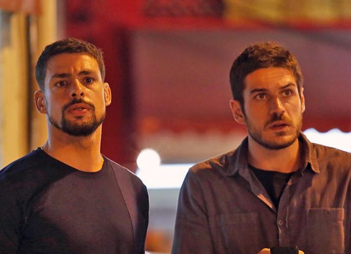 Juliano e Dante conversam sobre Tóia (Crédito: Reprodução)