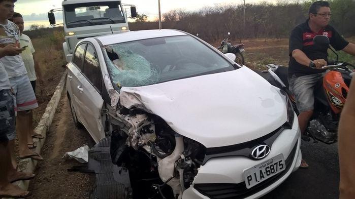 Veículo envolvido no acidente (Crédito: Reprodução)