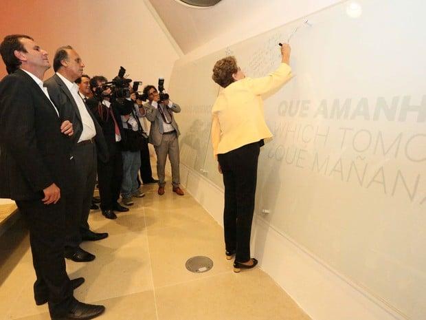 Presidente deixa depoimento em museu (Crédito: Reprodução)