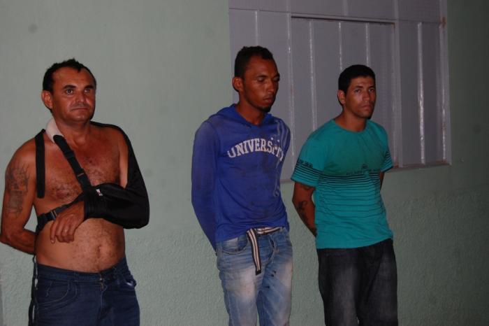 Os três acusados de matar filho e balear mãe em Isaias Coelho