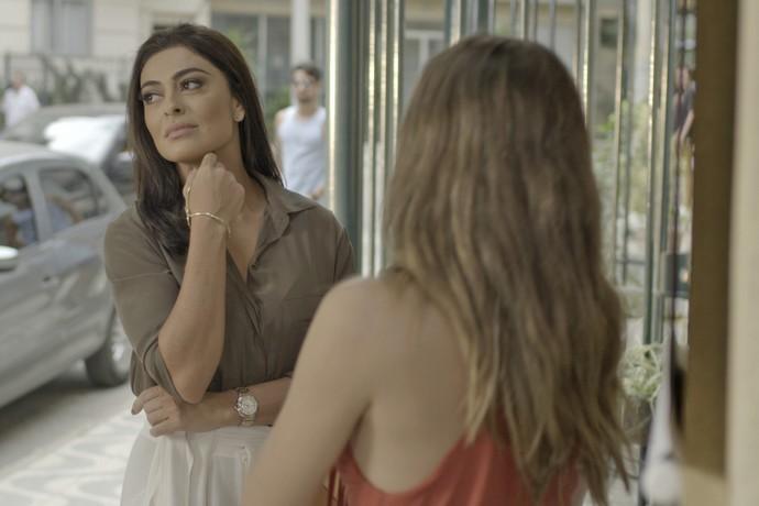 Carolina convoca Cassandra para sabotar Eliza  (Crédito: Reprodução)