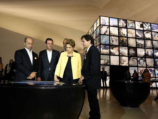 Dilma inaugura Museu do Amanhã (Crédito: Reprodução)