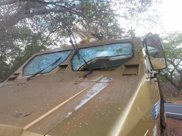Carro-forte  foi atacado por criminosos na BR-230
