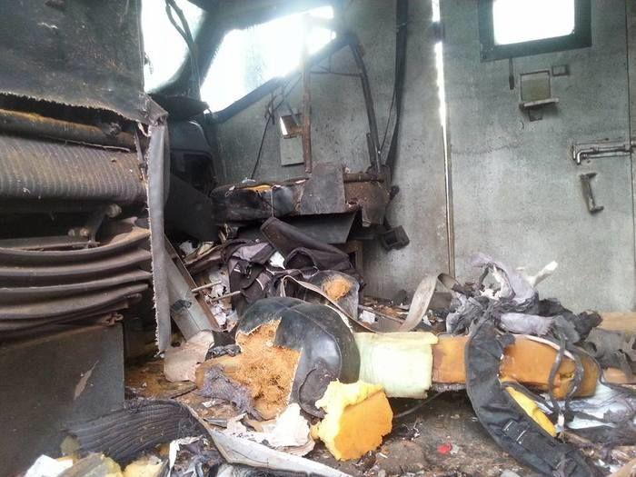 Carro-forte  atacado por criminosos na BR-230 ficou praticamente destruído
