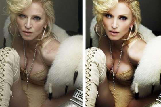 Celebridades antes e depois do photoshop (Crédito: Reprodução)